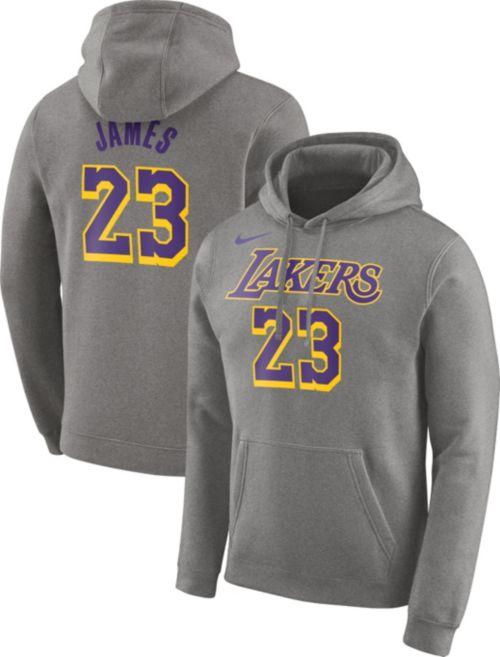 5c3a99efd Nike Men s Los Angeles Lakers LeBron James Grey Pullover Hoodie.  noImageFound. Previous