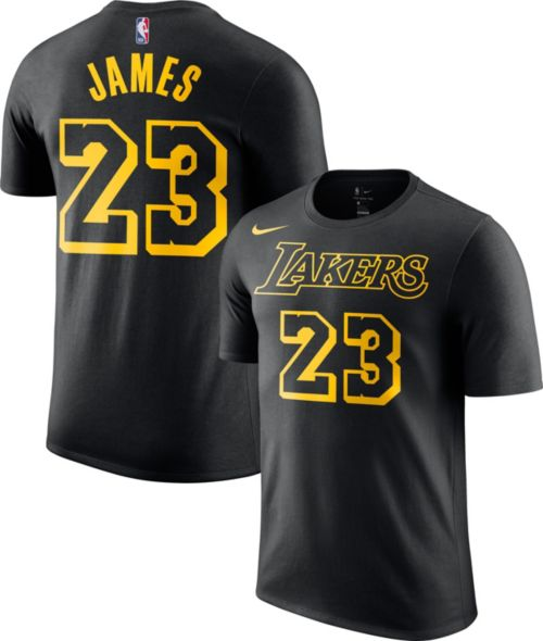 ae3ea1829 Nike Men s Los Angeles Lakers LeBron James Dri-FIT City Edition T-Shirt.  noImageFound. Previous
