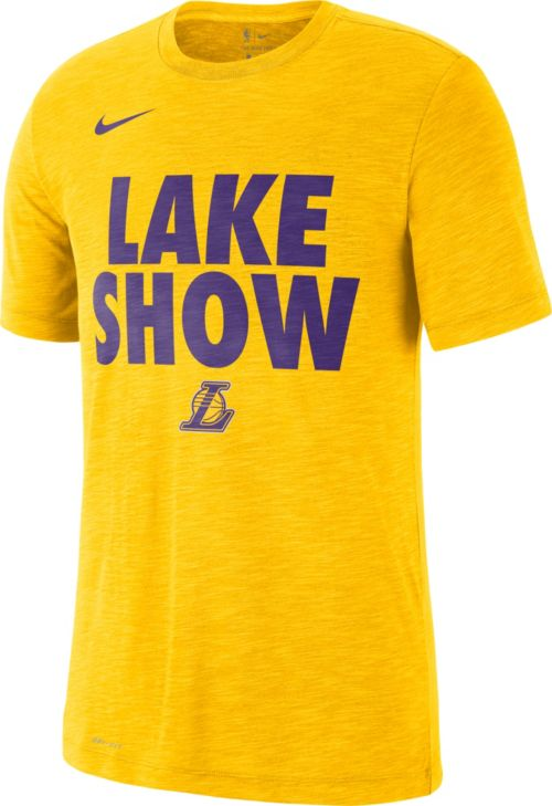 "091547779 Nike Men's Los Angeles Lakers Dri-FIT ""Lake Show"" T-Shirt | DICK'S ..."