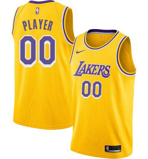 3c7dd66d7b3 Nike Men's Full Roster Los Angeles Lakers Gold Dri-FIT Swingman ...