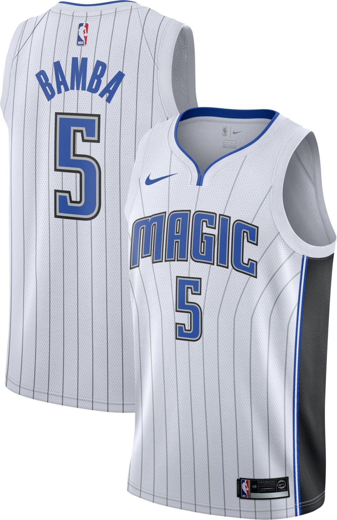 pretty nice 22bbd 5fb07 Nike Men's Orlando Magic Mohamed Bamba #5 White Dri-FIT Swingman Jersey