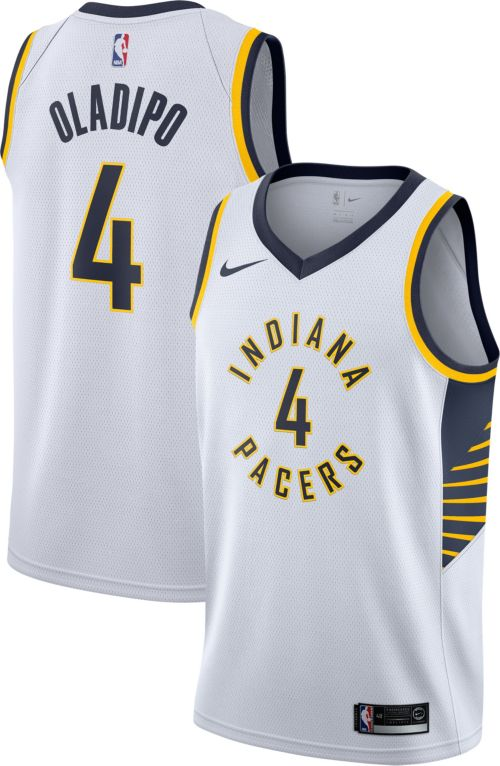 af8cde967b6 Nike Men s Indiana Pacers Victor Oladipo  4 White Dri-FIT Swingman Jersey.  noImageFound. Previous