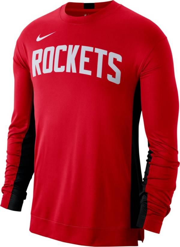 Nike Men's Houston Rockets Dri-FIT Long Sleeve Shooting  Shirt product image