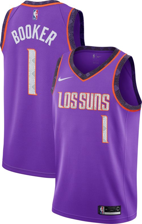 b084ec8fb Nike Men s Phoenix Suns Devin Booker Dri-FIT City Edition Swingman Jersey.  noImageFound. Previous