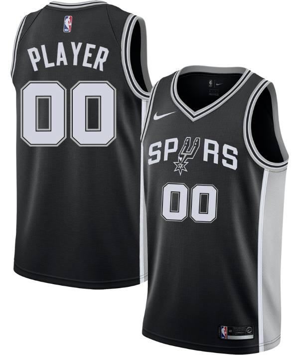 Nike Men's Full Roster San Antonio Spurs Black Dri-FIT Swingman Jersey product image