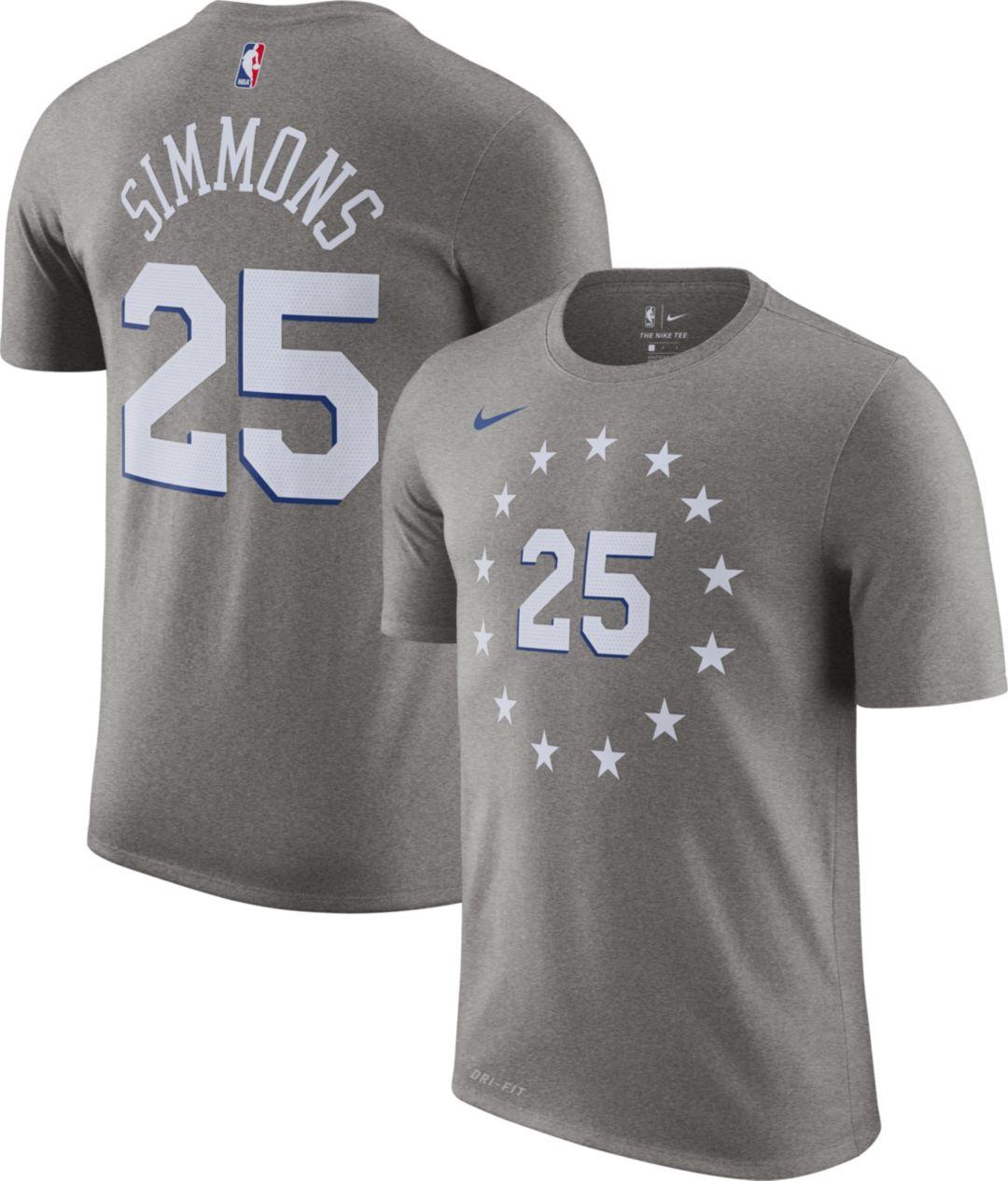 buy online 06d3a 1a75f Nike Men's Philadelphia 76ers Ben Simmons Dri-FIT City Edition T-Shirt