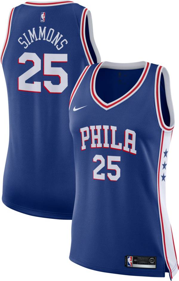 Nike Women's Philadelphia 76ers Ben Simmons #25 Royal Dri-FIT Swingman Jersey product image