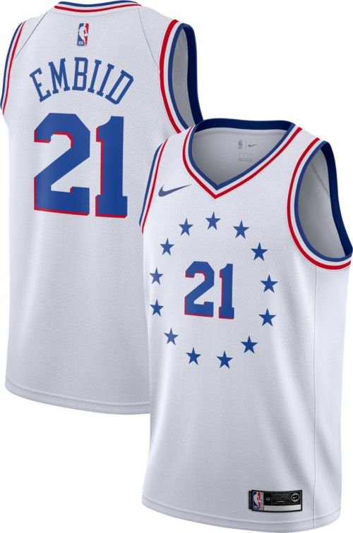 b0493e6cd Nike Men s Philadelphia 76ers Joel Embiid Dri-FIT Earned Edition Swingman  Jersey. noImageFound. Previous. 1. 2