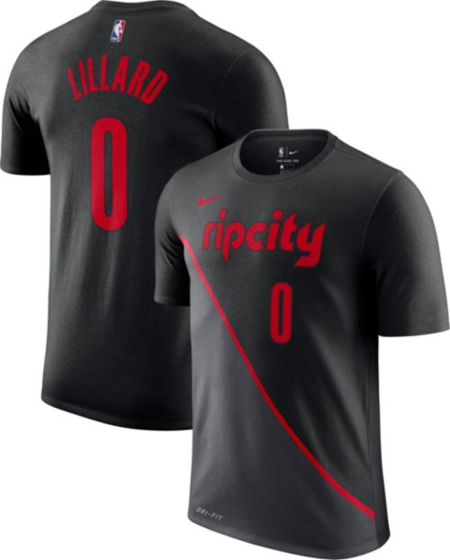 c90bdd07f81 Nike Men s Portland Trail Blazers Damian Lillard Dri-FIT City Edition T- Shirt. noImageFound. Previous