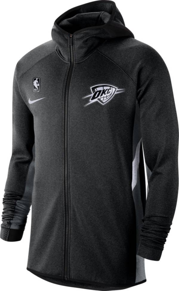 Nike Men's Oklahoma City Thunder On-Court Therma Flex Showtime Full-Zip Hoodie product image
