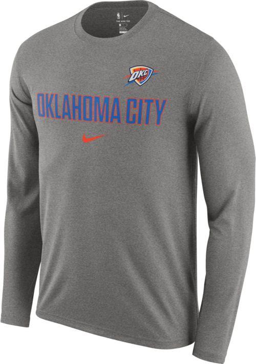 0f54948a Nike Men's Oklahoma City Thunder Dri-FIT Facility Long Sleeve Shirt.  noImageFound. Previous
