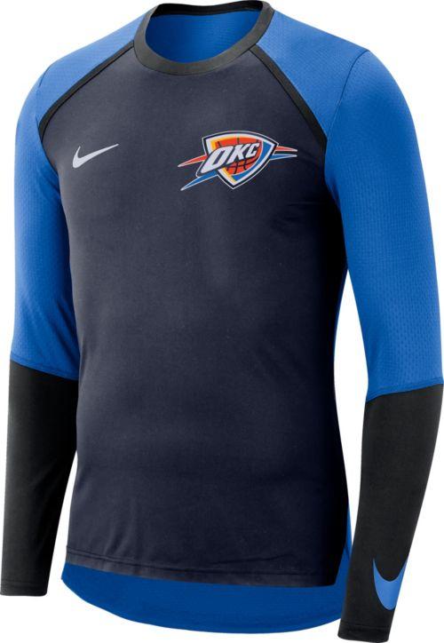 7a92b43c Nike Men's Oklahoma City Thunder Dri-FIT Long Sleeve Shirt. noImageFound.  Previous