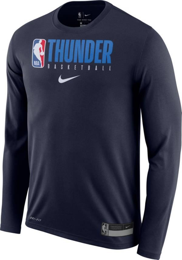 Nike Men's Oklahoma City Thunder Dri-FIT Practice Long Sleeve T-Shirt product image