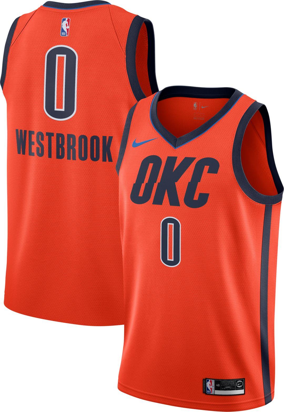 promo code 8b7cc 608b9 Nike Men s Oklahoma City Thunder Russell Westbrook Dri-FIT Earned Edition  Swingman Jersey. noImageFound. Previous