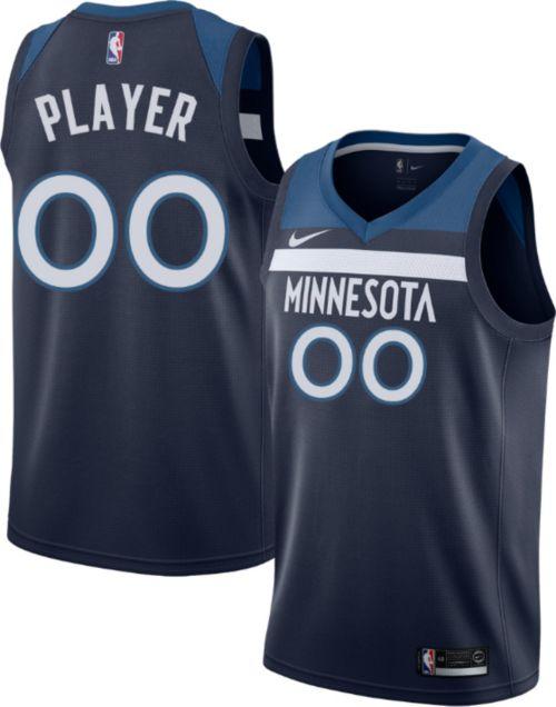 4a79d29b993 Nike Men s Full Roster Minnesota Timberwolves Navy Dri-FIT Swingman ...