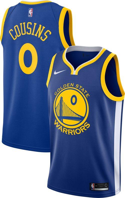 a745c0eda Nike Men s Golden State Warriors DeMarcus Cousins  0 Royal Dri-FIT Swingman  Jersey. noImageFound. Previous