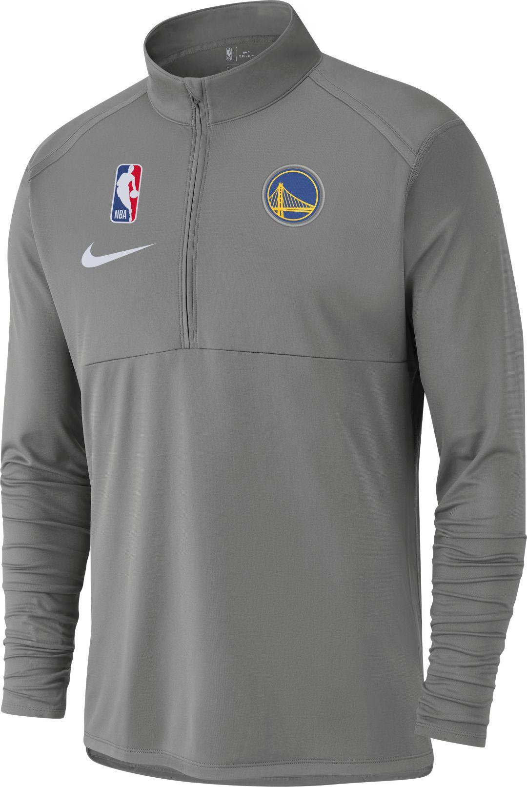 Nike Men's Golden State Warriors Dri FIT Element Half Zip Pullover