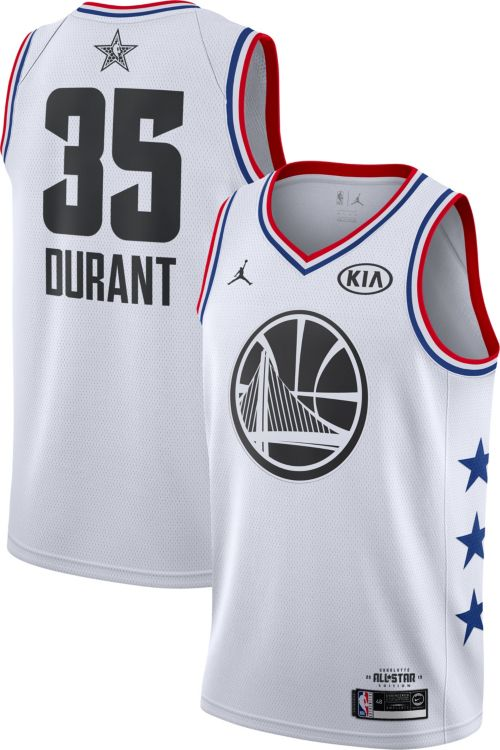 9b063bc9396 Jordan Men s 2019 NBA All-Star Game Kevin Durant White Dri-FIT Swingman  Jersey. noImageFound. Previous