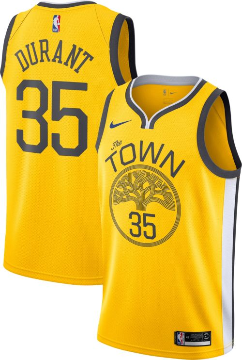 7ae98b803 Nike Men s Golden State Warriors Kevin Durant Dri-FIT Earned Edition  Swingman Jersey. noImageFound. Previous
