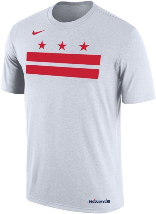 92223fcc1 Nike Men s Washington Wizards Dri-FIT White Shooting Shirt T-Shirt.  noImageFound. 1