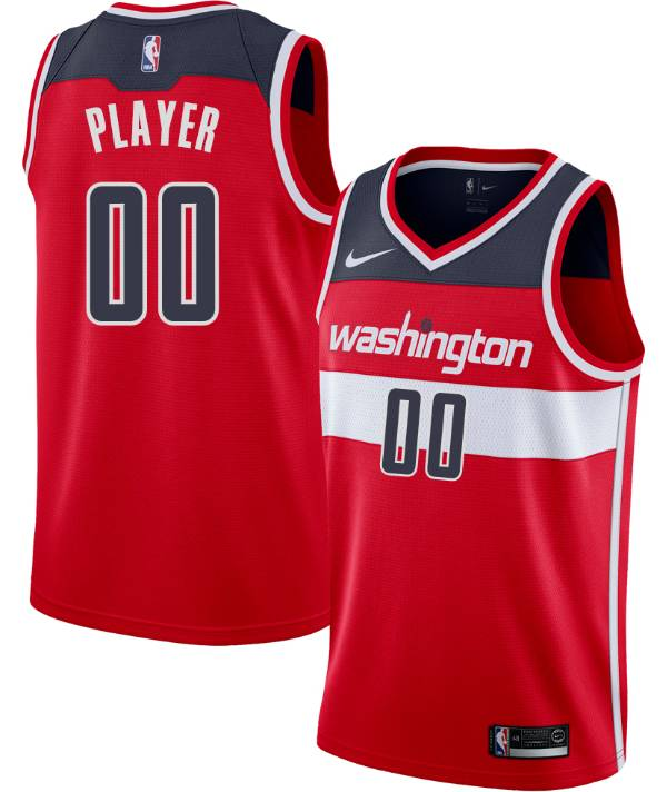 Nike Men's Full Roster Washington Wizards Red Dri-FIT Swingman Jersey product image