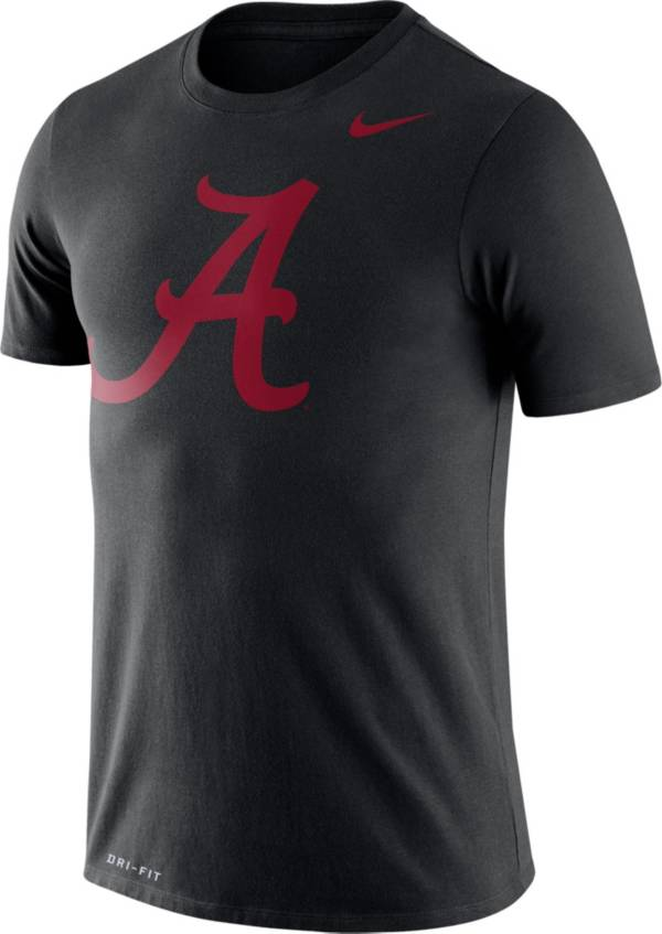 Nike Men's Alabama Crimson Tide Logo Dry Legend Black T-Shirt product image