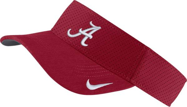 Nike Men's Alabama Crimson Tide Crimson AeroBill Football Sideline Visor product image