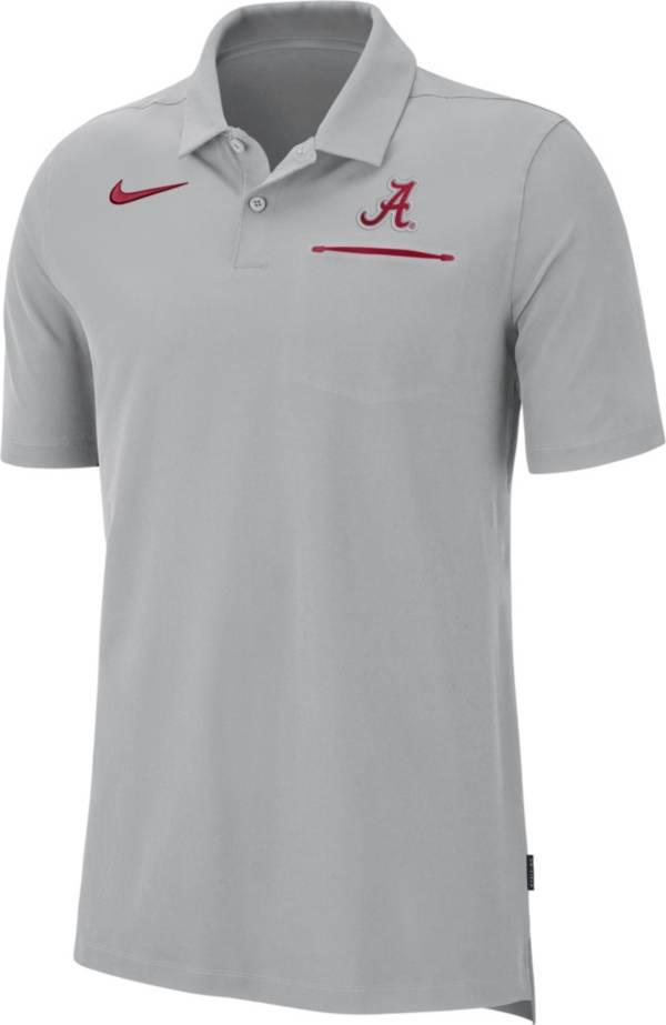 Nike Men's Alabama Crimson Tide Grey Dri-FIT Elite Football Sideline Polo product image