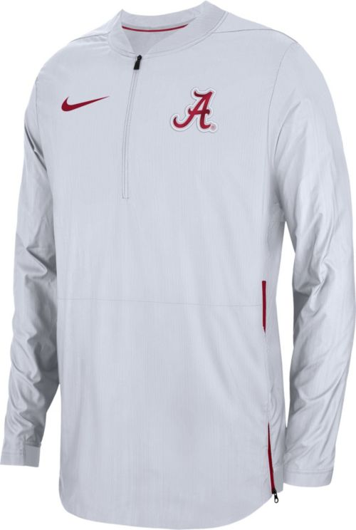 8c8d5739fe64 Nike Men s Alabama Crimson Tide Lockdown Football Quarter-Zip White Jacket.  noImageFound. Previous