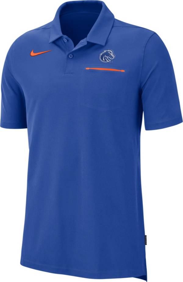 Nike Men's Boise State Broncos Blue Dri-FIT Elite Football Sideline Polo product image