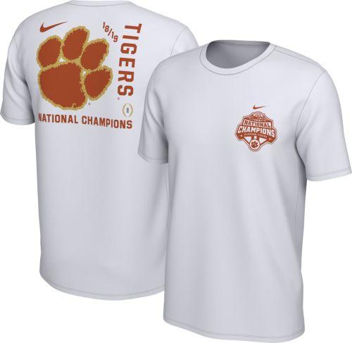 880d6c53a61f Nike Men s 2018 National Champions Clemson Tigers Back Hit ...