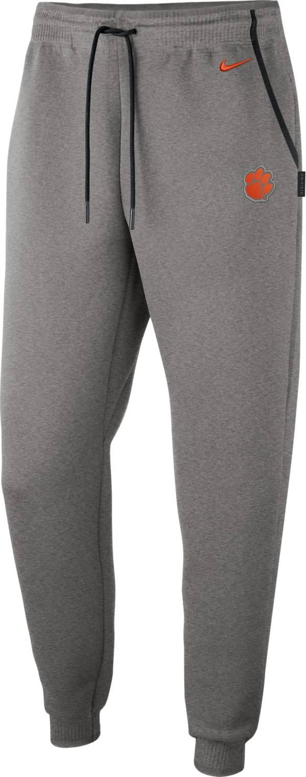 Nike Men's Clemson Tigers Grey Dri-FIT Football Sideline Repel Pants product image