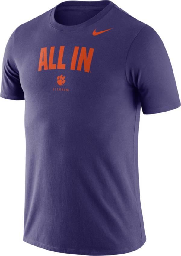 Nike Men's Clemson Tigers Purple Dri-FIT Phrase T-Shirt product image