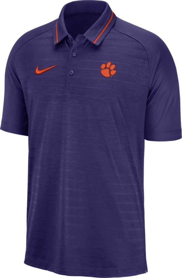 Nike Men's Clemson Tigers Regalia Dri-FIT Striped Polo product image