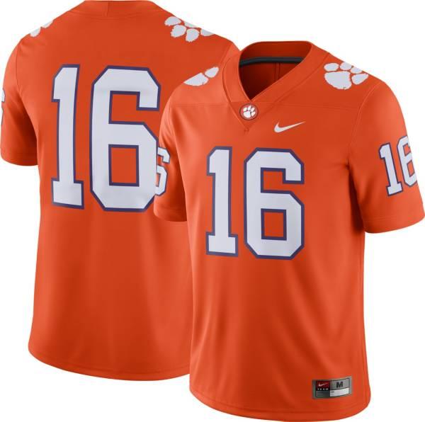 Nike Men's Clemson Tigers #16 Orange Dri-FIT Game Football Jersey product image