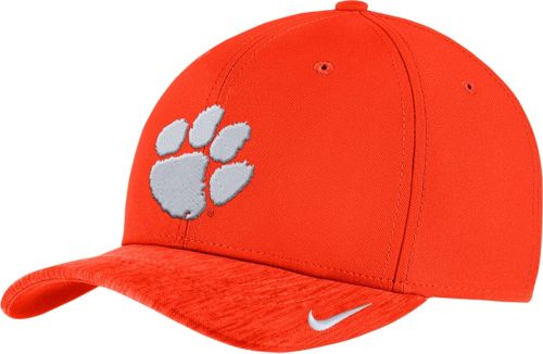 95d45113279 Nike Men s Clemson Tigers Orange Aerobill Swoosh Flex Classic99 Football  Sideline Hat