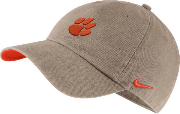 Nike Men's Clemson Tigers Tan Washed Heritage86 Hat product image