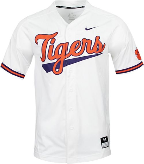 41bc4f93 Nike Men's Clemson Tigers Dri-FIT Replica Baseball White Jersey.  noImageFound. Previous