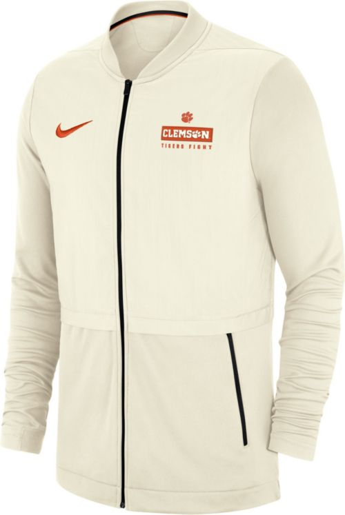 39a7743c4056 Nike Men s Clemson Tigers Elite Hybrid Rival Football White Full-Zip Jacket.  noImageFound. Previous