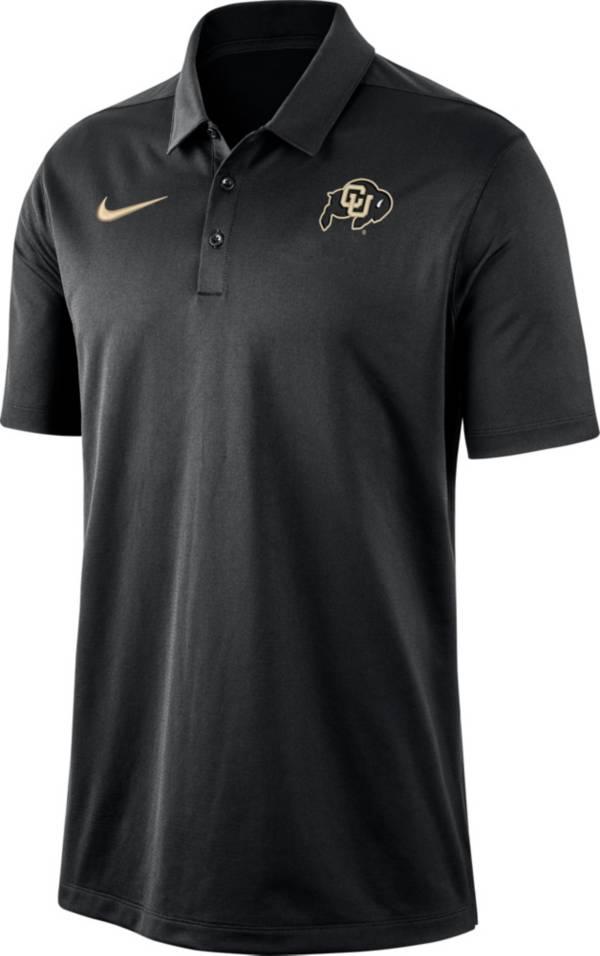 Nike Men's Colorado Buffaloes Dri-FIT Franchise Black Polo product image