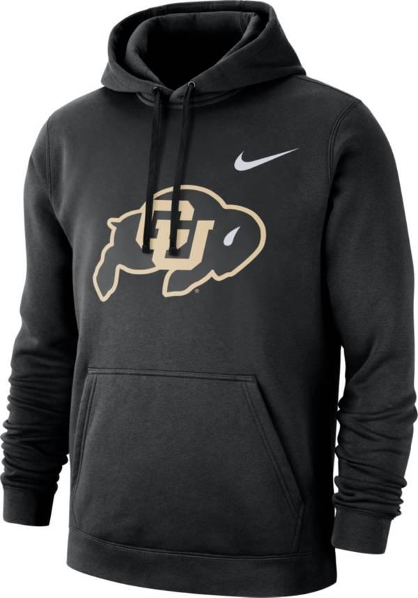 Nike Men's Colorado Buffaloes Club Fleece Pullover Black Hoodie product image