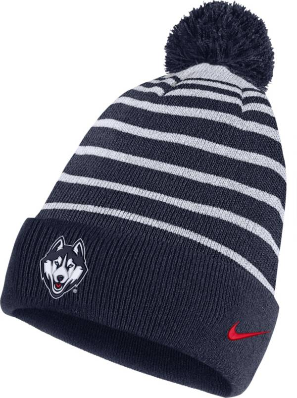 Nike Men's UConn Huskies Blue Football Sideline Cuffed Pom Beanie product image