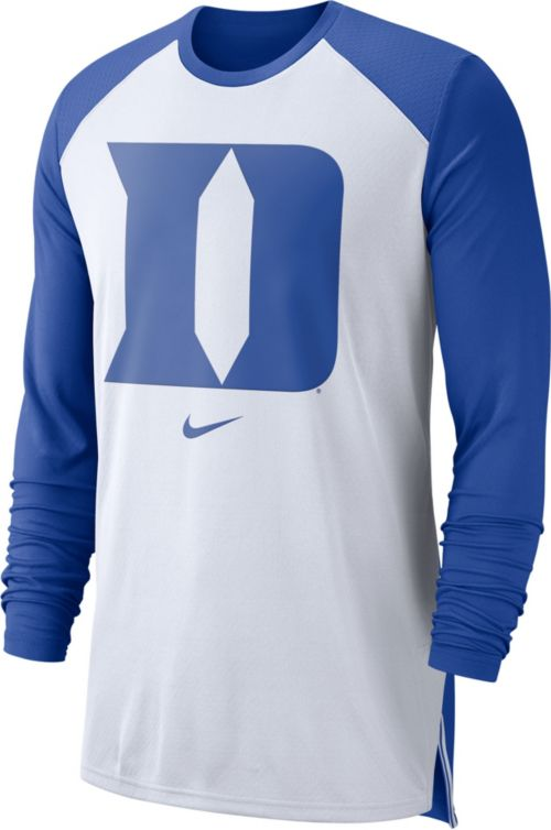 5ca585408 Nike Men's Duke Blue Devils White/Duke Blue Breathe Long Sleeve Shirt.  noImageFound. Previous