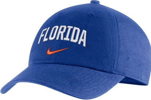 83e9d8de208 Nike Men s Florida Gators Blue Heritage86 Arch Wordmark Hat