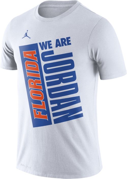 00b7d63bec9ac6 Jordan Men s Florida Gators Dri-FIT Performance Basketball White T ...