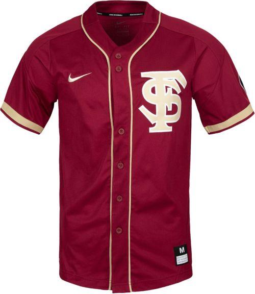 new style e2463 bad16 Nike Men s Florida State Seminoles Garnet Dri-FIT Replica Baseball Jersey.  noImageFound. Previous