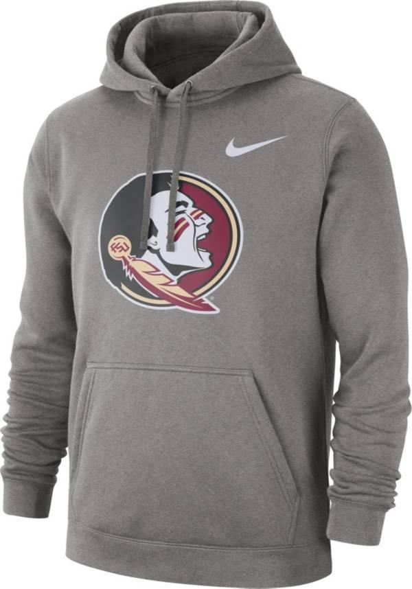Nike Men's Florida State Seminoles Grey Club Fleece Pullover Hoodie product image