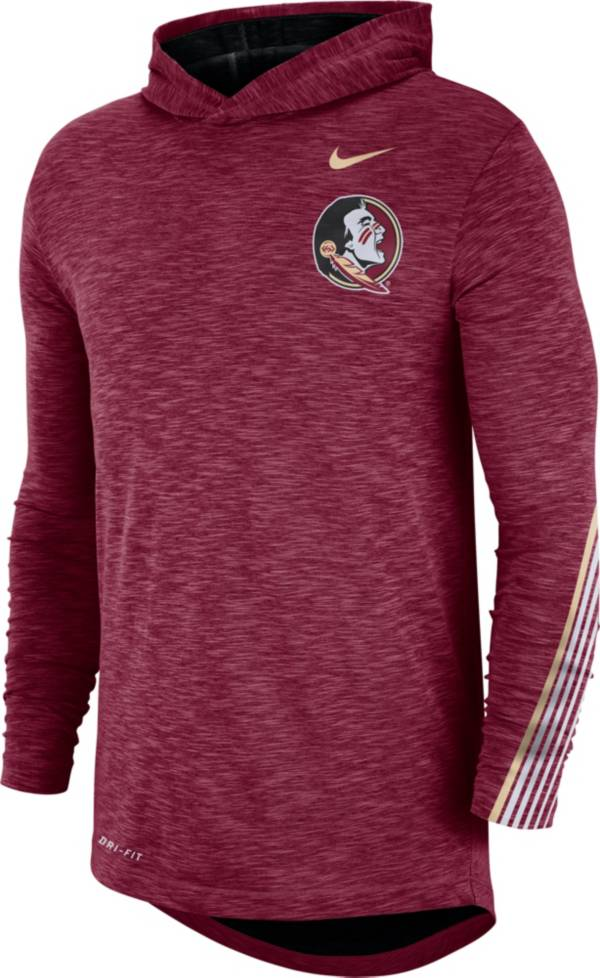 Nike Men's Florida State Seminoles Garnet Cotton Long Sleeve Hoodie T-Shirt product image