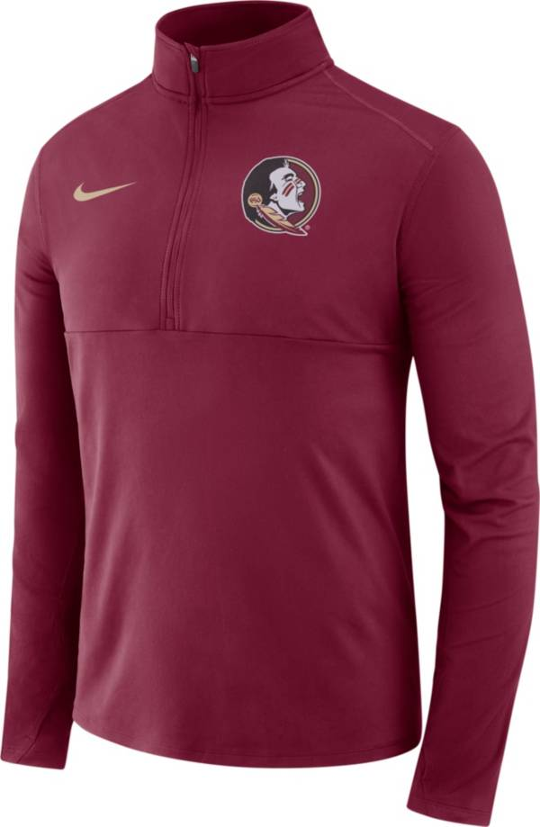Nike Men's Florida State Seminoles Garnet Long Sleeve Core Half-Zip Pullover Shirt product image