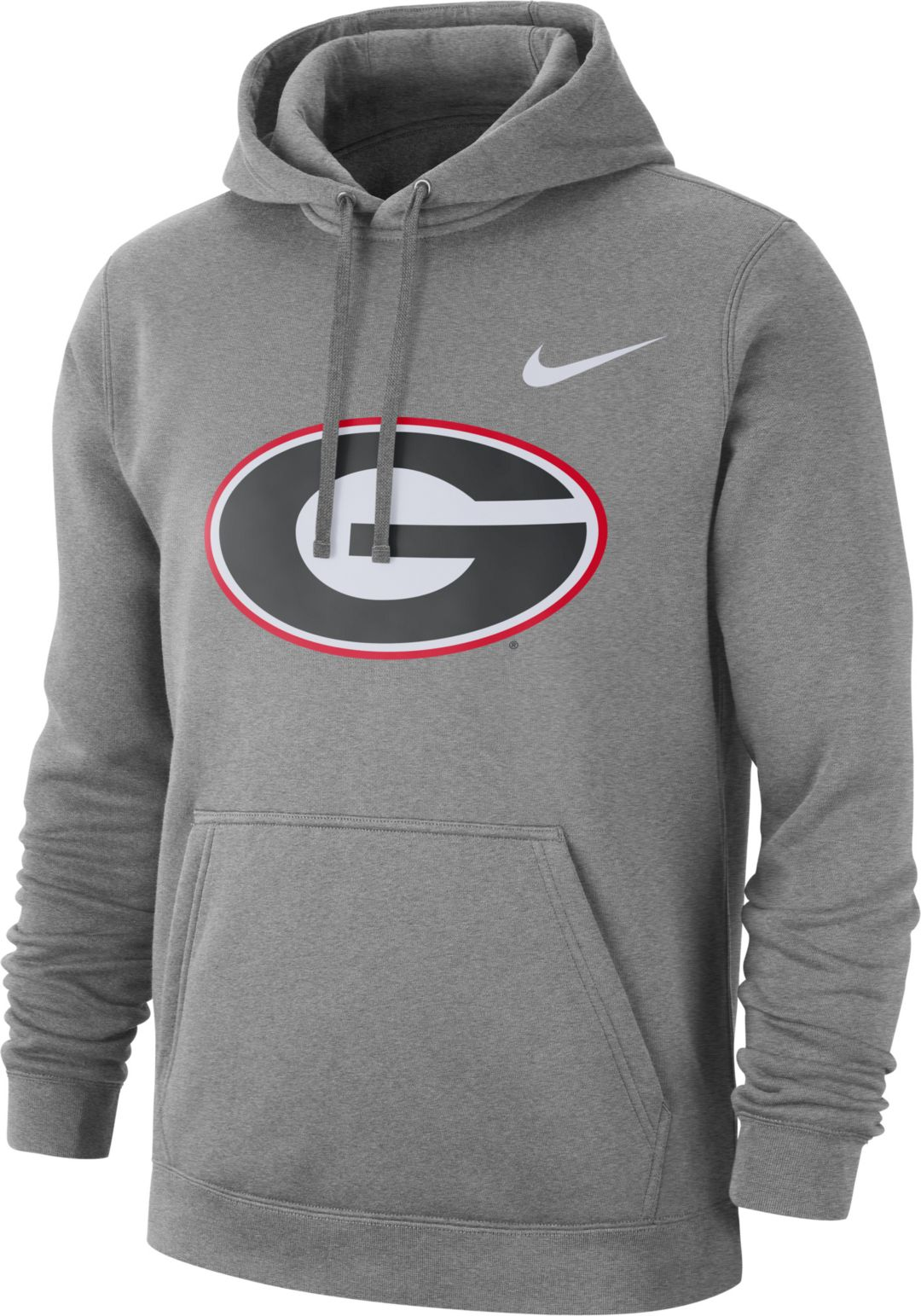 1dca58c6 Nike Men's Georgia Bulldogs Grey Club Fleece Pullover Hoodie